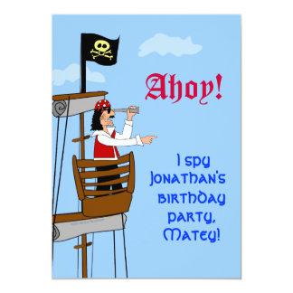 Custom Pirate Birthday Party Invitations Ship