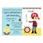 Custom Pirate Boy Birthday Party Personalized Invite