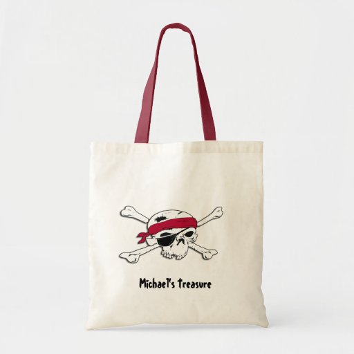 Custom Pirate Treasure Halloween Bag