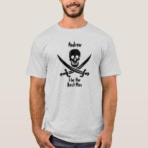 Custom Pirate Wedding Party Shirt