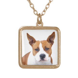 Custom Pit Bull Puppy Dog Neckace ~ Gold or Silver Necklaces