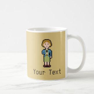 Custom Pixel Female Reporter Coffee Mug
