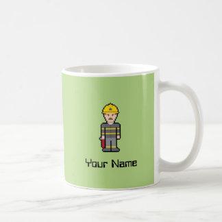 Custom Pixel Firefighter Coffee Mug