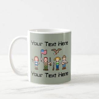 Custom Pixel Murica Coffee Mug