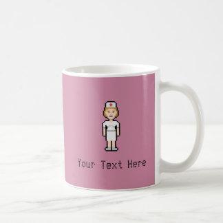Custom Pixel Nurse Coffee Mug