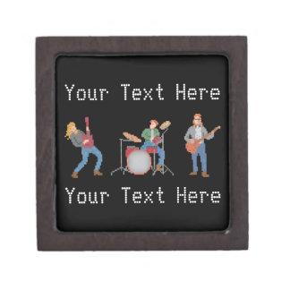 Custom Pixel Rock Band Keepsake Box