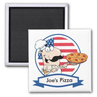 Custom Pizza Gift 2 Inch Square Magnet