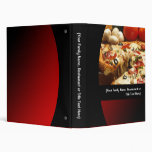 Custom Pizza/Italian Recipe or Menu Food Binder 3 Ring Binder