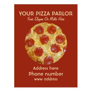 Custom Pizza Parlor Ad postcards