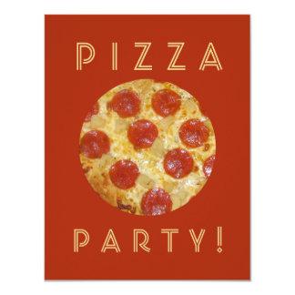 Custom PIZZA PARTY invitations