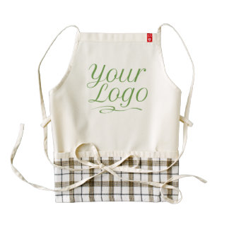 Custom Plaid Apron Uniform Company Logo Printed
