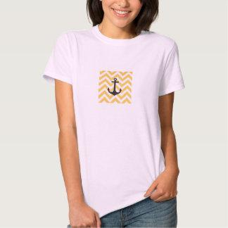 Custom Plain Beige Anchor T-Shirt Women