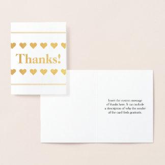 """Custom & Plain """"Thanks!"""" Card"""