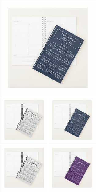 Custom Planners with 2020 Calendar Covers