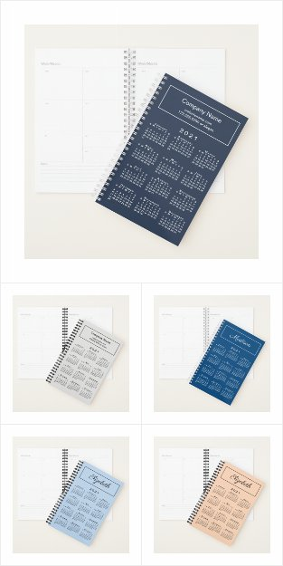 Custom Planners with 2021 Calendar Covers