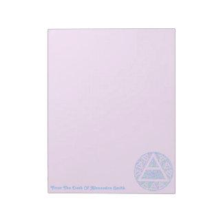Custom Plato's Air Symbol New Age Triad Notes Note Pad