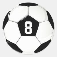 Custom Player Number Black and White Soccer Ball