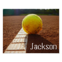 Custom player or team name tennis photo poster