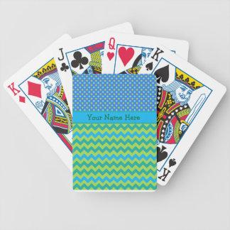 Custom Playing Cards, Blue Moons Chevrons