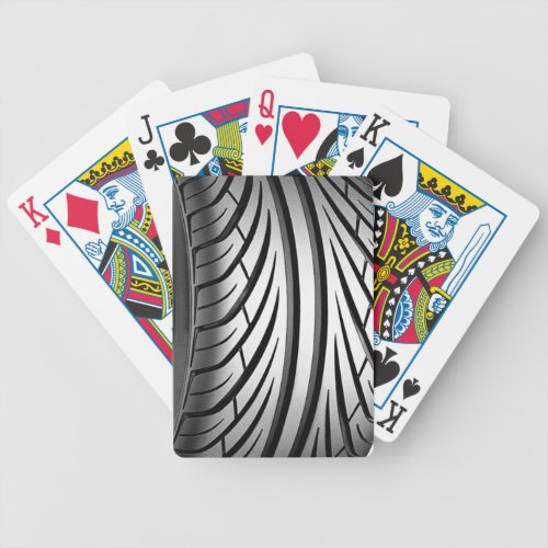 Custom Playing Cards _ Tire Tread