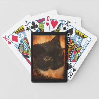 Custom Poker Face Cat Bicycle Playing Cards