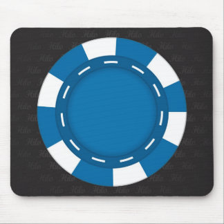 Custom Poker Mouse Pad Blue
