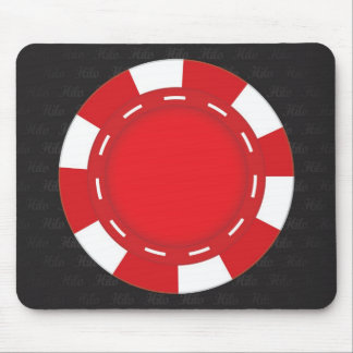 Custom Poker Mouse Pad Red