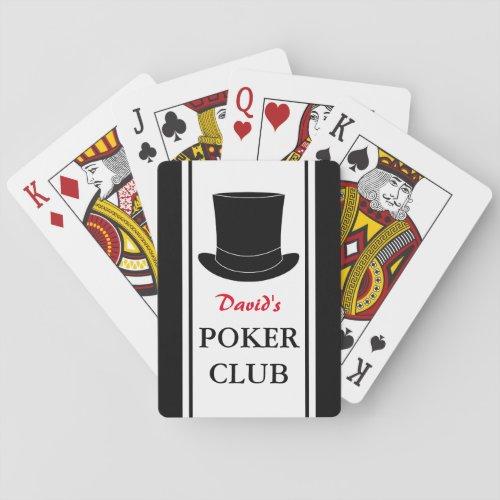 Custom poker playing cards for gentlemen