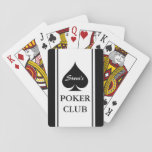 "Custom poker playing cards with Ace of spades<br><div class=""desc"">Custom poker club playing cards with suits design. Personalized name poker cards with ace of spades. Cool gift for men who love playing poker and other card games. Spade suit design with custom name poker club. Also available for bridge. Fun Birthday party present for guys; dad, father, brother, uncle, friends,...</div>"