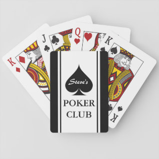 Custom Poker Playing Cards With Ace Of Spades at Zazzle