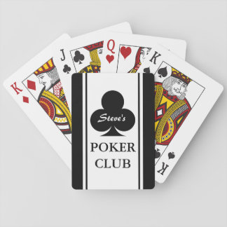 Custom poker playing cards with black clubs design