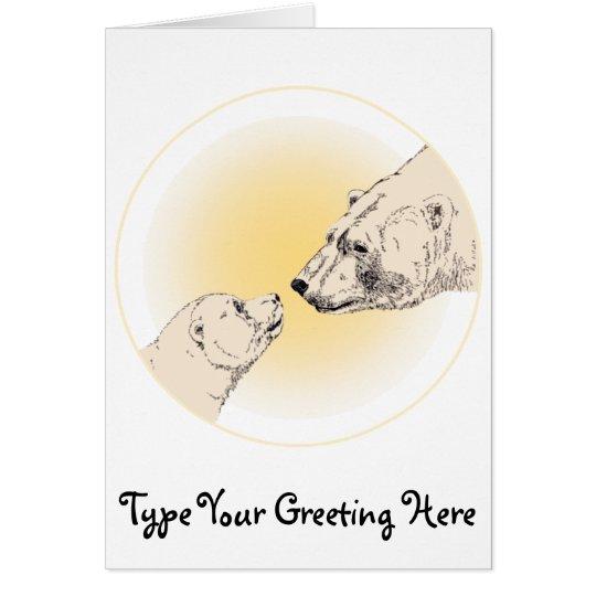 Custom Polar Bear Card Wildlife Art Cards