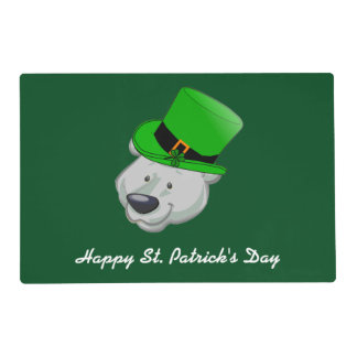 Custom Polar Bear Placemat - St Patricks Day Decor
