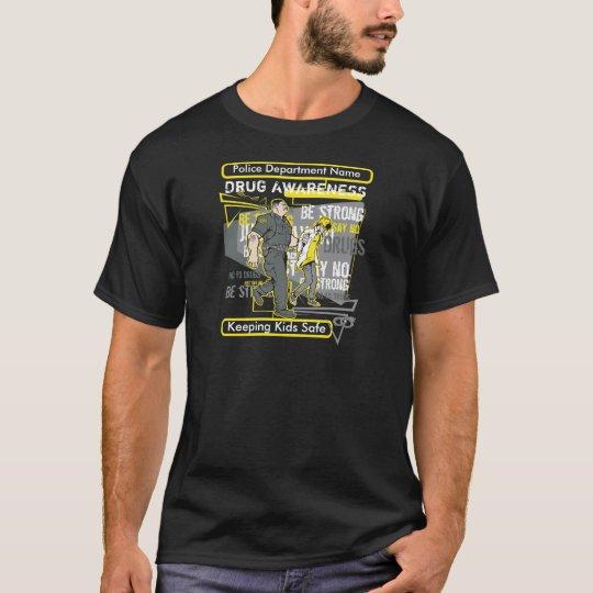 Custom Police Drug Awareness T-Shirt