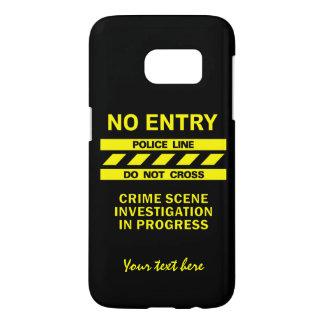 Custom Police Line custom phone cases Samsung Galaxy S7 Case