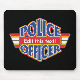 Custom Police Officer Mouse Pad