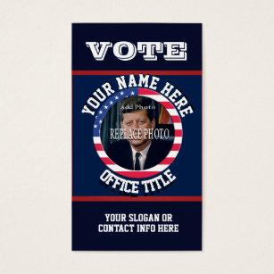 Campaign business cards templates zazzle custom political campaign template business card colourmoves