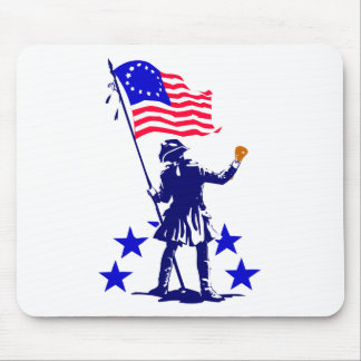 Custom Political Slogan with Patriotic Flag Mouse Pad