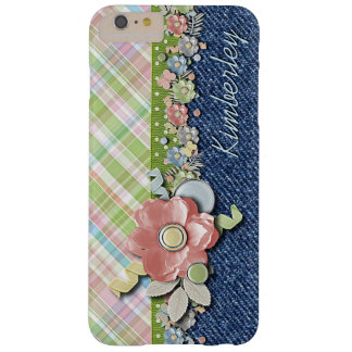 Custom Polka Dots Cute Pastel Floral Pattern Barely There iPhone 6 Plus Case