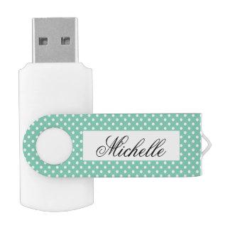 Custom polka dots pattern swivel USB flash drive Swivel USB 2.0 Flash Drive