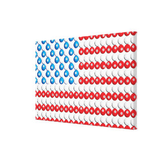 Custom Pool Ball American Flag Canvas Print