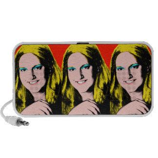 Custom Pop Art Teen Girl Speaker System