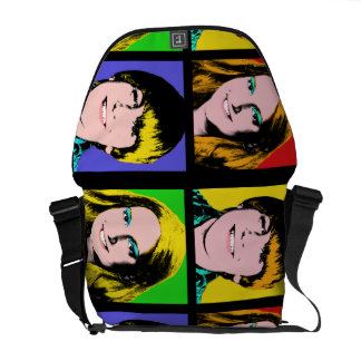 Custom Pop Art Teen Quad Design Messenger Bag