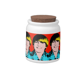 Custom  Pop Art Teenage Boy Candy Dish