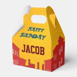 Custom Pop Superhero Comic Birthday Favor Box