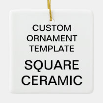 Custom Porcelain Christmas Ornament Blank Template