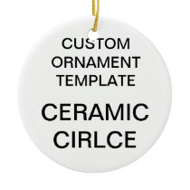 Custom Porcelain Round Christmas Tree Ornament