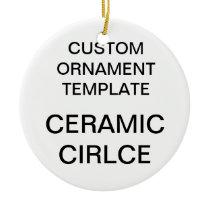 Custom Porcelain Round Christmas Tree Ornament