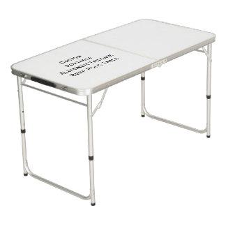 Custom Portable Aluminum Tailgate Beer Pong Table