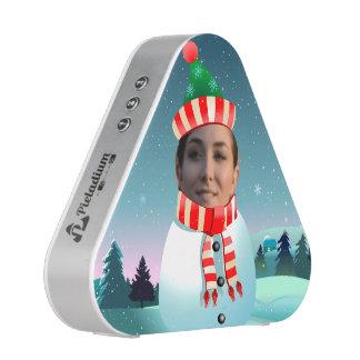 Custom Portrait Snowman Cartoon Bluetooth Speaker